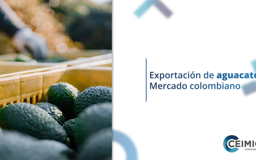 Exportación de aguacate: Mercado colombiano