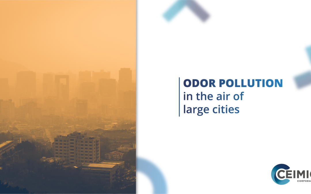 Odor pollution in the air of large cities