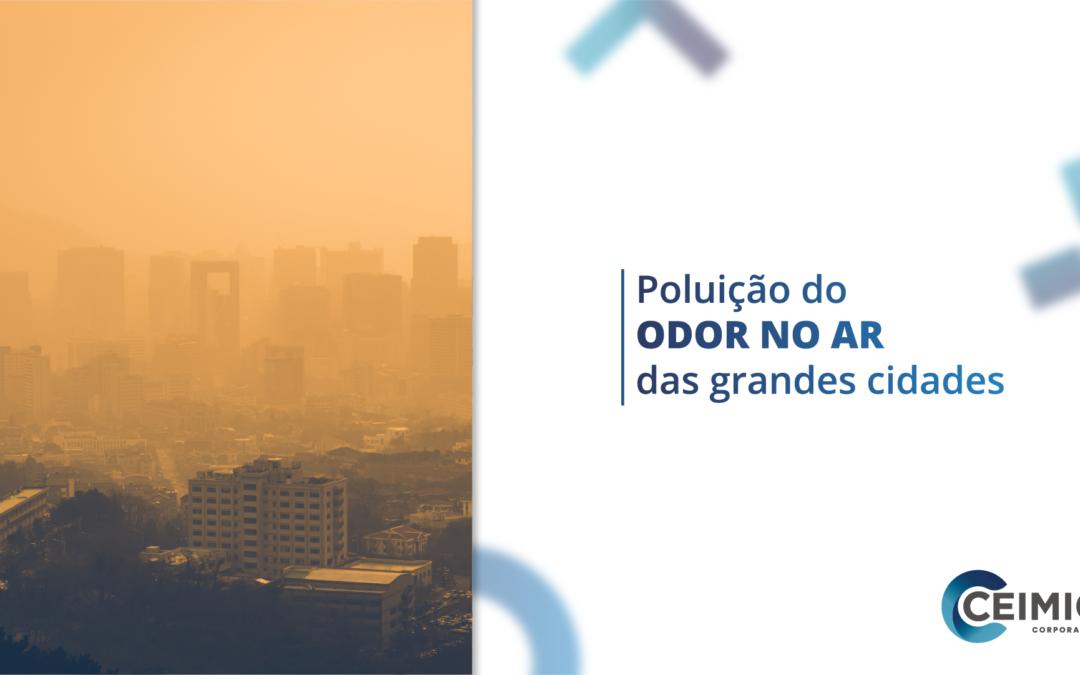 Poluição do odor no ar das grandes cidades