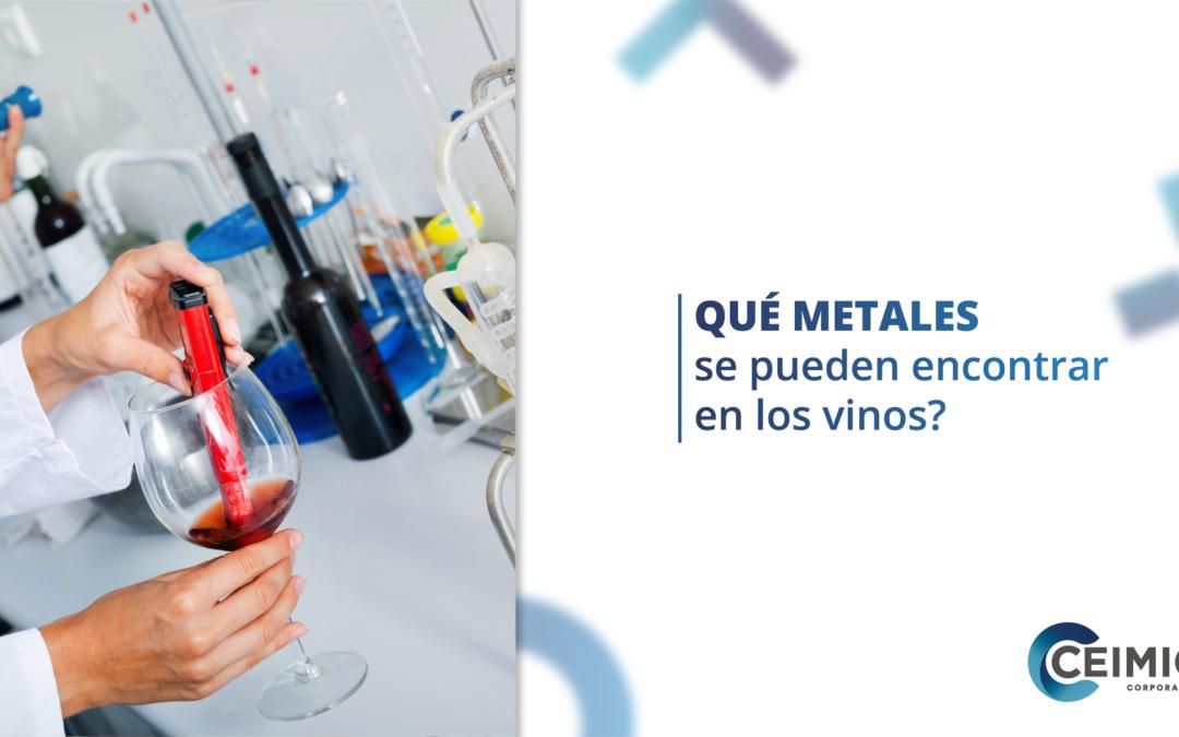 ¿Qué metales se pueden encontrar en los vinos?